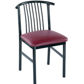 Gabby Side Chair in Black Metal Frame with Vinyl Upholstered Seat