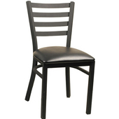 Diana Black Matte Metal Chair with Grade2 Vinyl Upholstered Seat
