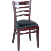 Diana Ladderback Beechwood Chair with Grade 2 Vinyl Seat