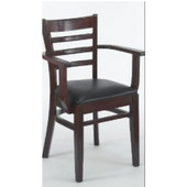 - Slat Back Arm Chair, 17'' W x 17'' D x 33'' H, Black