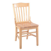 School House Beechwood Chair with Wood Seat, 17''W x 16''D x 35''H, Mahogany
