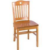 Port Beechwood Chair with Grade 1 Vinyl Upholstered Seat 18''W x 16''D x 35-1/2''H