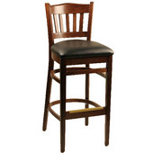 Alston Classico Slatback Beechwood Chair with Grade 2 Viny Seat 16 1/2W x 16D x 34H