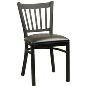 Legacy Black Matte Metal Chair with Grade 2 Vinyl Upholstered Seat