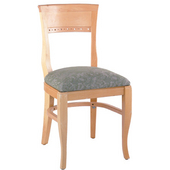 Biedermeier Beechwood Chair with Grade 1 Upholstered Seat 18''W x 17.5''D x 34.5''H