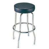 Alston Single Ring Bar Stool with Chrome Frame and Upholstered Grade 1 Vinyl Seat