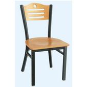 Admiral Chair, 17'' W x 17'' D x 33'' H, Black & Natural