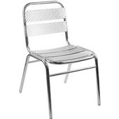 Aluminum Slatted Chair 18.5''Wx16.5''Dx31''H