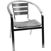 Aluminum Armchair 15.5''Wx15''Dx28.5''H (arms-19.5)