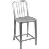 Aluminum Dining Chair, 15'' W x 15'' D x 33-1/2'' H