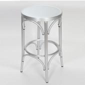 Lugano Aluminum Bentwood Look Counter Stool, 16'W x 16'D x 29-1/2'H