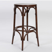 Lugano Aluminum Bentwood Look Counter Stool - Mocha Finish, 16'W x 16'D x 29-1/2'H