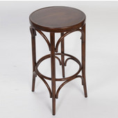 Lugano Aluminum Bentwood Look Bar Stool - Mocha Finish, 16'W x 16'D x 25-1/2'H