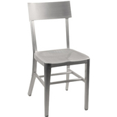 Melanie Brushed Aluminum Chair with Molded Seat 15-1/4''Wx15''Dx33-3/4''H
