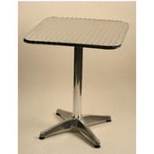 - Aluminum Bar Height Table, 30'' W x 30'' D