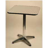 - Aluminum Table, 36'' W x 36'' D
