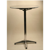 - Round Aluminum Table - Dining Height, 30'' Dia.