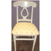 - Napolean Side Chair, 18'' W x 17'' D x 34'' H, White Sand