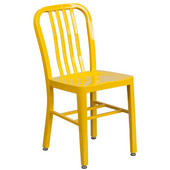 Galvanized Steel Dining Chair -Yellow, 20''W x 15-1/2''D x 33-1/4''H