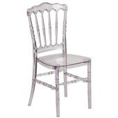 Casper Crystal Stackable Chair, 16-3/4''W x 18-1/4''D x 34-1/2''H