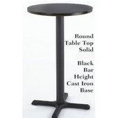 - Round Laminate Table Top, 24'' Dia., Black