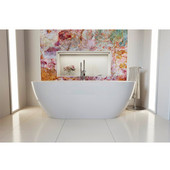 Gloria 2 Freestanding Oval Acrylic Bathtub, High Gloss White, 74-3/4'' W x 37-1/2'' D x 26'' H