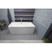 PureScape™ Freestanding Rectangular Acrylic Bathtub, High Gloss White, 63'' W x 31-1/2'' D x 23-1/2'' H