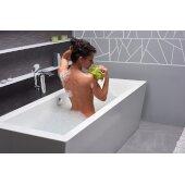 PureScape™ Freestanding Rectangular Acrylic Bathtub, High Gloss White, 70-3/4'' W x 33-1/2'' D x 23-1/2'' H