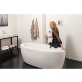PureScape™ Freestanding Oval Acrylic Bathtub, High Gloss White, 68-3/4'' W x 32-3/4'' D x 23-1/2'' H
