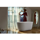 PureScape AquateX™ Freestanding Oval Solid Surface Bathtub, Matte White, 60-5/8'' W x 27-1/2'' D x 24-3/4'' H
