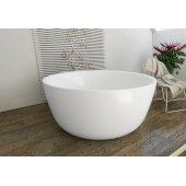 PureScape AquateX™ Round Freestanding Solid Surface Bathtub, Matte White, 53-1/4'' Diameter x 24'' H