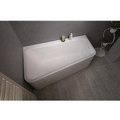 Jane™ Solid Surface Corner Bathtub, White, 59'' W x 33-1/2'' D x 25-1/4'' H