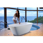 Arabella™ Freestanding Solid Surface Bathtub, Matte White, 68-1/2'' W x 30-1/4'' D x 24-1/2'' H