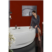 Olivia™ Small Corner Acrylic Bathtub, High Gloss White, 55'' W x 55'' D x 26-3/4'' H