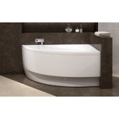 Idea™ Left Corner Acrylic Bathtub, High Gloss White, 59'' W x 35-3/4'' D x 25-1/4'' H