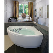 Cleopatra™ Corner Acrylic Bathtub, High Gloss White, 61'' W x 61'' D x 25-1/4'' H