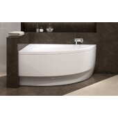 Idea™ Right Corner Acrylic Bathtub, High Gloss White, 59'' W x 35-3/4'' D x 25-1/4'' H