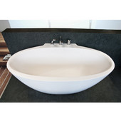 Sensuality Mini™ Mini Back To Wall Oval Solid Surface Bathtub, Matte White, 66-1/2'' W x 37'' D x 26-3/4'' H