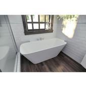 Arabella™ Large Corner Solid Surface Bathtub, Matte White, 71-1/4'' W x 34-1/4'' D x 24-1/2'' H