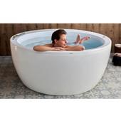 Pamela™ Relax Air Massage Round Acrylic Bathtub, High Gloss White, 68'' Diameter x 29-1/2'' H