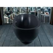 Karolina II ™ Solid Surface Oval Bathtub, Matte Black, 70-3/4'' W x 37-1/2'' D x 26-3/4'' H
