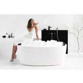 PureScape™ Freestanding Oval Acrylic Bathtub, High Gloss White, 63'' W x 30'' D x 23-1/2'' H