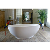 Karolina II ™ Freestanding Oval Solid Surface Bathtub, Matte White, 70-3/4'' W x 37-1/2'' D x 26-3/4'' H