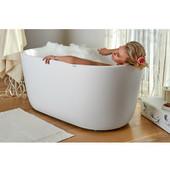 PureScape AquateX™ Mini Freestanding Oval Solid Surface Bathtub, Matte White, 55-1/8'' W x 27-1/2'' D x 24'' H