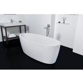 PureScape™ Relax Air Massage Oval Bathtub, High Gloss White, 63'' W x 30'' D x 23-1/2'' H