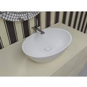 Sensuality™ Oval Stone Vessel Sink, White, 22-3/4'' W x 15-3/4'' D x 6'' H