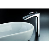 Bollicine Single Hole Sink Faucet, Chrome, 7-1/2'' W x 2-1/4'' D x 11'' H