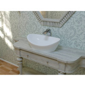Luna™ Oval Stone Lavatory, High Gloss White, 23-1/2'' W x 14-1/2'' D x 7-3/4'' H