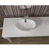 Metamorfosi Oval Ceramic Bathroom Vessel Sink, White, 21-3/4'' W x 16-1/2'' D x 5-1/2'' H