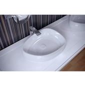 Metamorfosi Shapeless Ceramic Bathroom Vessel Sink, White, 21-3/4'' W x 16-1/2'' D x 5-1/2'' H